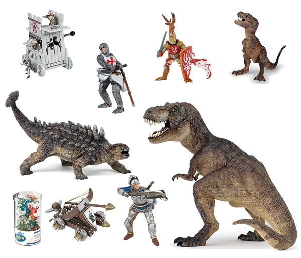 Ridders en dinosaurussen van Papo
